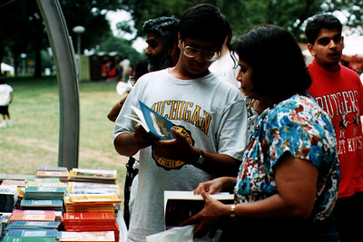 Hindu Students Peruse the Bookstall at the Festival of India (Edison, NJ)