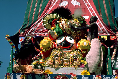 Krishna Jagannatha, Lord of the World, on His Chariot During a Procession (Boston, MA)
