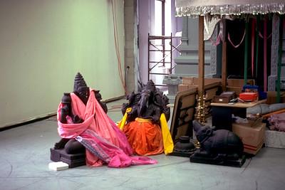 Murtis of Ganesha and Lakshmi Before Consecration at Sri Lakshmi Temple (Ashland, MA)
