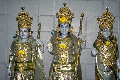 Images of Rama, Sita, and Lakshmana at the Hindu Temple of Kentucky (Louisville, KY)