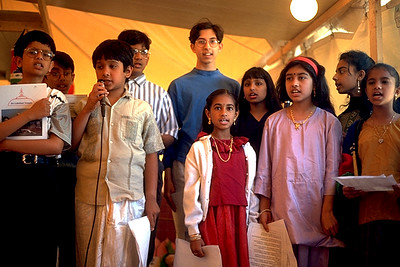 Children at the Sri Lakshmi Temple Sing in the Stotra Choir (Ashland, MA)