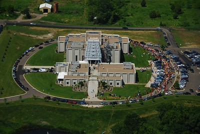 Aerial Photo of the Hindu Temple Grand Opening (Maple Grove, MN)