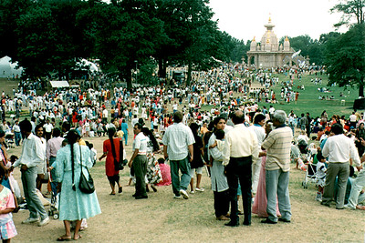 People Enjoy the 1991 Festival of India at Middlesex Community College (Edison, NJ)