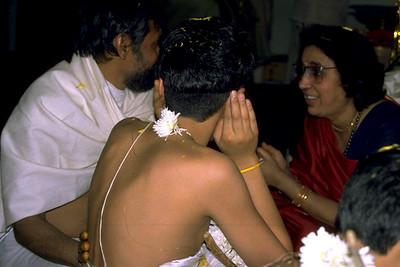 Hindu Initiate Wears the Sacred Thread (Bridgewater, NJ)