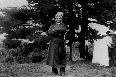 "Swami Vivekananda by the ""Swami Pine"" at Green Acres (Eliot, ME)"