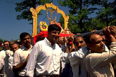 Men Process with the Goddess Lakshmi (Ashland, MA)