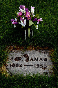 Grave of an American Muslim at the National Muslim Cemetery (Ceder Rapids, IA)
