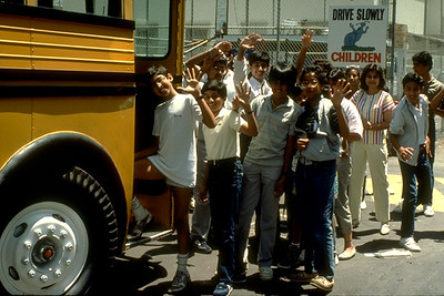 Young Ismaili Muslims Board the Bus During Summer Camp