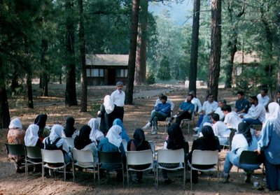 Dr. Siddiqi Lecturing During Youth Camp (Los Angeles, CA)