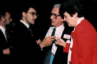 Salam Al-Marayati from MPAC speaking with U.S. Senator Diane Feinstein (1993)