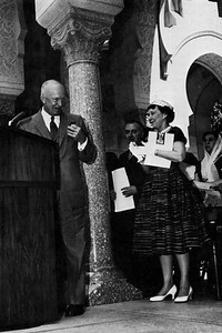 Eisenhower Speaking at the Grand Opening of the Islamic Center in Washington, D.C