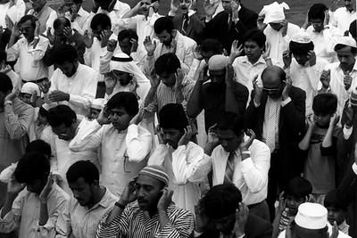 American Muslims Performing Salah on Eid Day (Atlanta, GA)