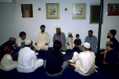 Men Chanting During Dhikr at Masjid Jamil (Palo Alto, CA)