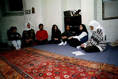 Muslim Students in a Prayer Room at Wellesley College (Wellesley, MA)