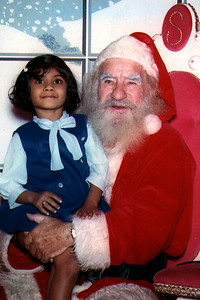 Jain Child Visiting Santa Claus (United States)