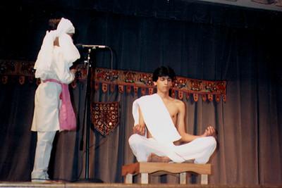 Young Jains Enacting Mahavira In Meditation