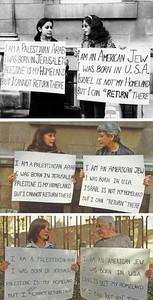 Ghada Karmi and Ellen Siegel Protest In Front of the Israeli Embassy in London