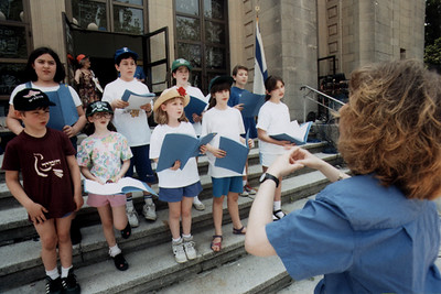 Children's Choir Performs During Israel Independence Day (Brookline, MA)