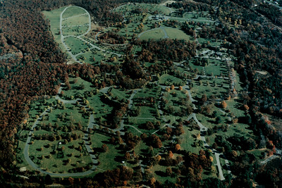 Aerial View of the Graveyard at Sharon Memorial Park (Canton, MA)