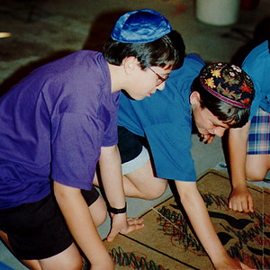 Boys Work on a Puzzle of the Ten Commandments at the Children's Activity Museum of the Bureau of Jewish Education (Phoenix, AZ)