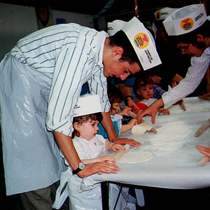 Children Learn How to Bake Matzoh at Passover