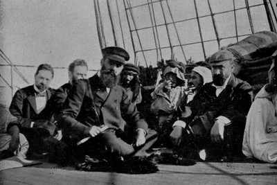 Theodore Herzl on the Deck of a Ship Sailing to Jaffa in 1898