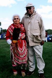 Anishinaabe Elder Wearing Jingle Dress at a Powwow (Pine Point, MN)