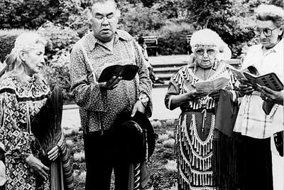 Ojibwe Elders Singing Hymns (New York City, NY)