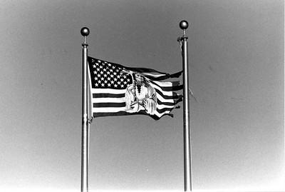 Image of Sitting Bull on an American Flag (Black Hills, SD)