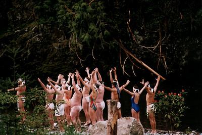 Shinto Practitioners Preparing for Purification (Granite Falls, WA)