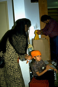 Mother and son at Sikh Center of New York (Flushing, NY)