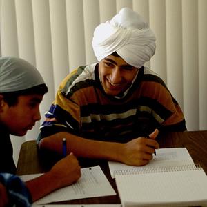 Studying Scriptures at Nanak Sadan Sikh Temple (Northridge, CA)