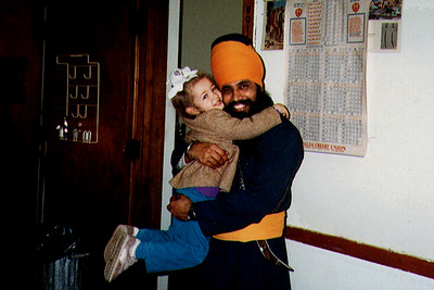 Two Generations of Sikhs Embrace