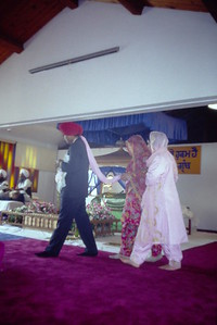 Wedding Procession at Sikh Temple of Hayward/Guru Granth Sahib Foundation (Hayward, CA)