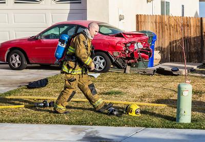 TC - Auto vs. House, Victorville Jan. 2015