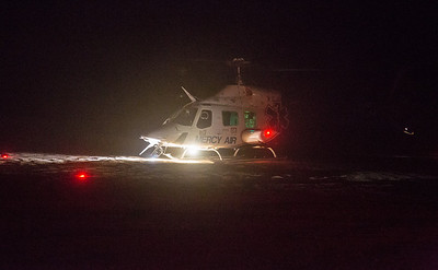 Mercy air landing at lz after a offroading accident(By Brandon Barsugli)