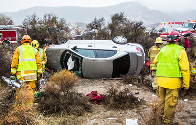 TE hwy 138, Single car roll over(by Brandon Barsugli)