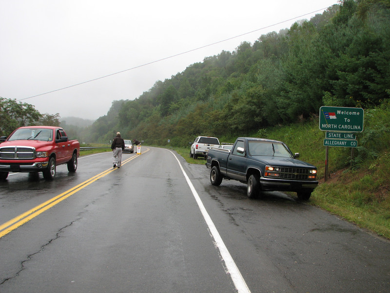 > Grayson county So on 21 south at NC State line.