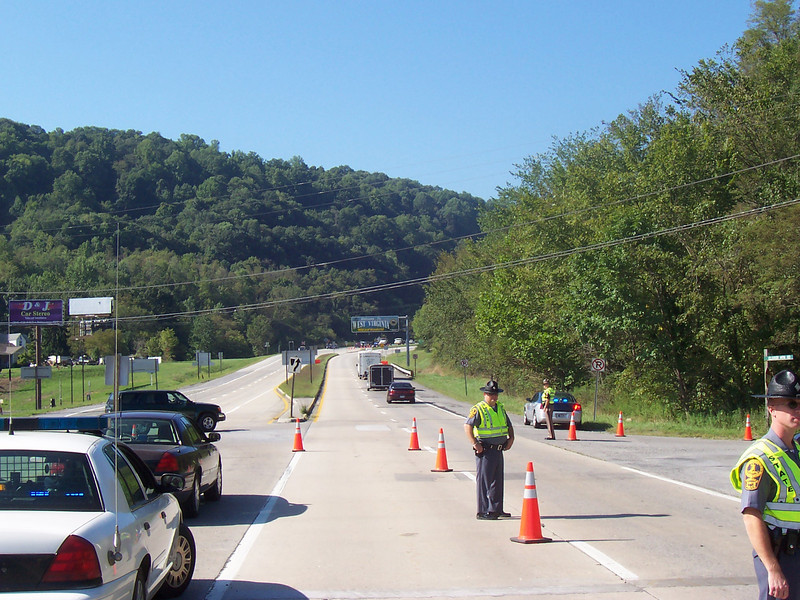 Border to Border Checkpoint in Giles County, VA (Route 460 West in Glen Lyn) <i>-- Participating agencies: Narrows PD, Giles County SO, Glen Lyn PD, Virginia State Police, Rich Creek PD</i>