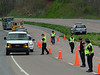 "Wise County law enforcement officers checking traffic during ""Operation 58"""