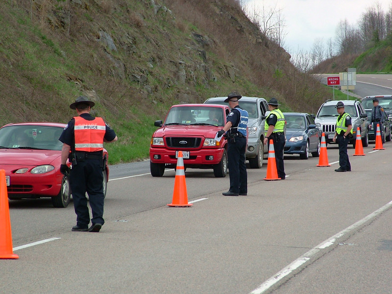 """Wise County law enforcement officers checking traffic during """"Operation 58"""""""