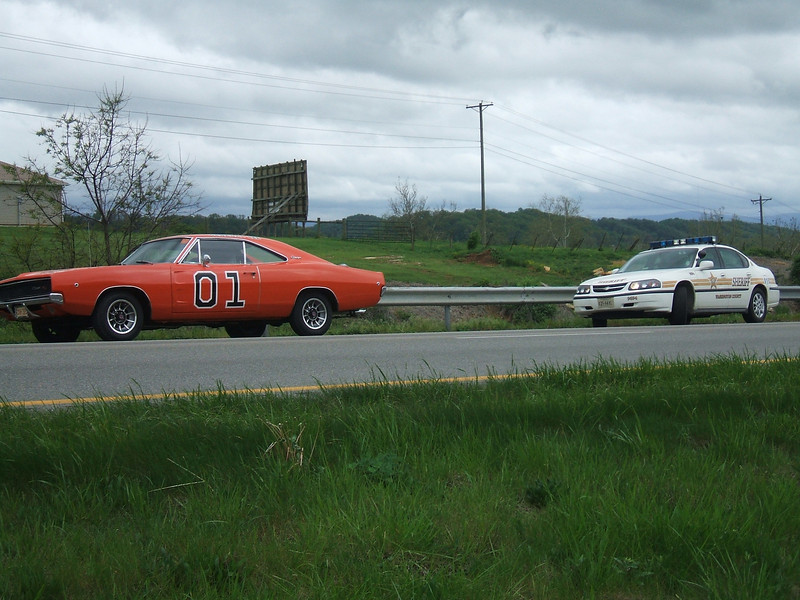 "Traffic stop with the ""General Lee"" vehicle was disabled along I-81"