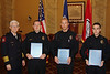 Chief Broadfoot with Overall Top Producers for Danville PD in 2010.