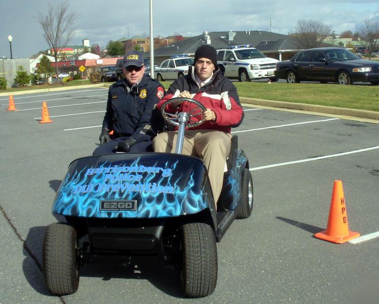 Harrisonburg Police DUI Golf Cart/ Fatal Vision event