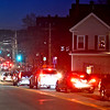 Traffic backed up on School Street before Pawtucket Street and the School Street Bridge. SUN/ David H. Brow