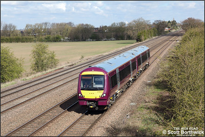 170531 passes Cossington whilst working 5T10 0914 WThFO Nottingham Eastcroft-Leicester on 15/04/2021.