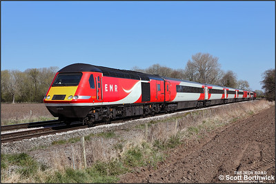 43320/43238 pass East Goscote whilst forming 5M17 1020 WSX London St Pancras International-London St Pancras International via Leicester 'route refresher' on 19/04/2021.