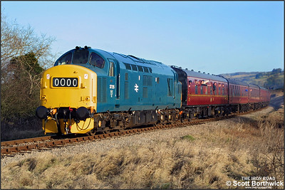 37215 passes Hailes with the 1105 Toddington-Gotherington service on 28/12/2001 during the Gloucestershire & Warwickshire Railways 2001 Christmas Diesel Day.