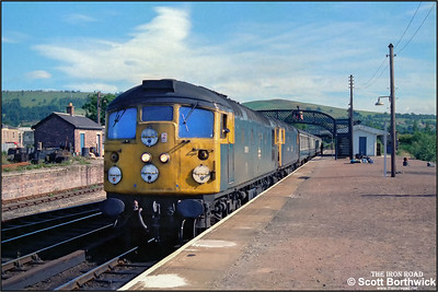26015 pilots 26044 at Dingwall whilst working 2N12 0710 Kyle of Lochalsh-Inverness after the latter had run low on coolant at Achnasheen on 21/07/1983.