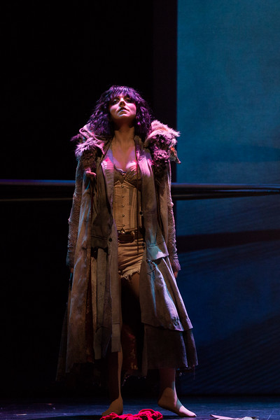 Mezzo-soprano Peabody Southwell is Carmen in San Diego Opera's The Tragedy of Carmen. March, 2017. Photo by Karli Cadel.